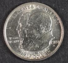1923-S MONROE COMMEMORATIVE HALF DOLLAR, CHOICE BU