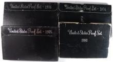 PROOF & MINT SET LOT; 1981, '74, '75, '76 & 1972, 1981 MINT SETS