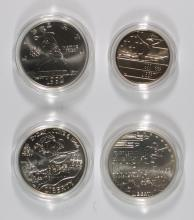 COMMEMS BOX/COA: 1991 KOREA BU; 1993 WWII HALF DOLLAR PROOF; 1992 OLYMPICS 2