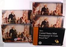 2007 THRU 2011 U.S. PRESIDENTIAL PROOF SETS IN NICE ORIG PACKAGING