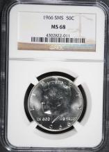 1966 SMS KENNEDY HALF DOLLAR, NGC MS-68