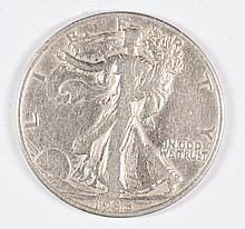 1938-D WALKING LIBERTY HALF DOLLAR F/VF