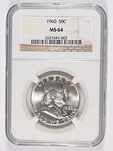 1960 FRANKLIN HALF DOLLAR NGC MS-64