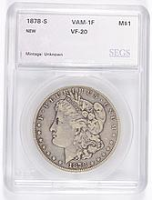1878-S MORGAN DOLLAR SEGS VF-20 (VAM-1F)