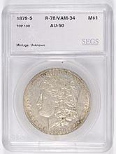 1879-S MORGAN DOLLAR SEGS AU-50 (VAM-34)
