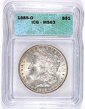 1885-O MORGAN DOLLAR ICG MS-63