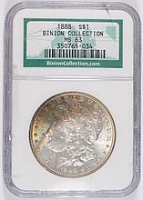 1888 MORGAN DOLLAR NGC MS-63 (BINION)