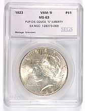 1923 PEACE DOLLAR SEGS MS-63 (VAM-1I)