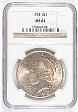 1935 PEACE DOLLAR NGC MS-64