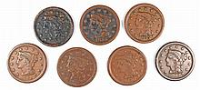 (7) DIFFERENT DATED LAGRE CENTS (50, 51, 52, 53, 54, 54, 55)