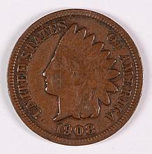 1908-S INDIAN HEAD CENT FINE-15