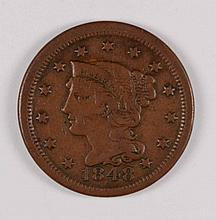 1848 LARGE CENT F/VF
