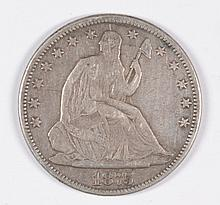 1875 SEATED HALF DOLLAR VF