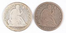 (2) SEATED HALF DOLLARS (75, 75-S)
