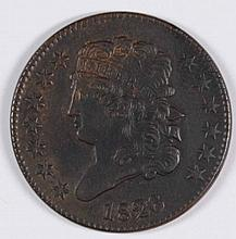 1826 1/2 CENT COHEN 1 AU-55 SHARP STRIKE