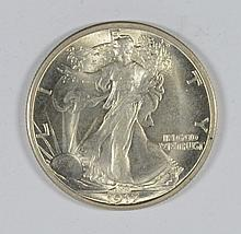 1917 WALKING LIBERTY HALF MS-65 BLAST WHITE