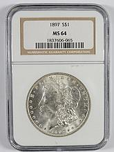 1897 MORGAN DOLLAR NGC MS-64