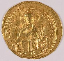 BYZANTINE GOLD ROMANUS III 1028 - 1034 AD HISTAMENON NOMISMA AU/UNC