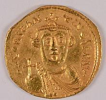 BYZANTINE GOLD SOLIDUS EMPEROR CONSTANS II 650 AD AMAZING BU