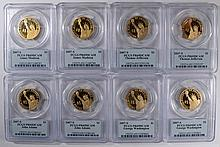 2 EACH 2007-S PRESIDENTIAL PROOF DOLLARS, PCGS PR-69 DCAM VERY NICE  COINS