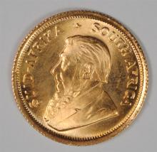 1982 1/10th OUNCE FINE GOLD SOUTH AFRICA KRUGERRAND