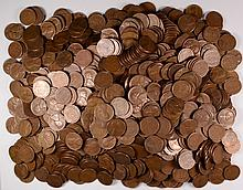 ( 1000 ) PIECES SAN FRANCISCO MINT LINCOLN  CENTS, 1955 AND OLDER,