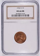 1936-S LINCOLN CENT NGC MS-66 RB