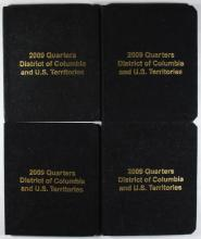 4 SETS 2009 QUARTERS COLUMBIA & TERRITORIES; 2 SETS GOLD PLATED & 2 SETS SILVER