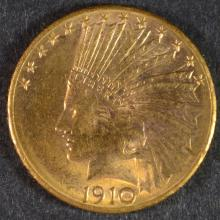 1910-D $10 GOLD INDIAN CH BU
