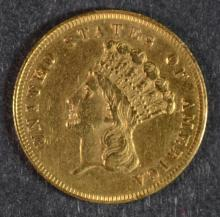 1861 $3 GOLD XF+ BETTER DATE