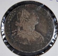 1802 CARLOS IIII 8/REALE MEXICO CITY MINT