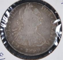 1799 CARLOS IIII 8/REALE MEXICO CITY MINT
