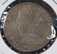 1785 CARLOS III 8/REALE MEXICO CITY MINT