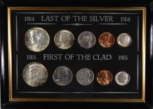 MINT ERROR COIN SET, ALL WITH CLIPPED EDGE: 1964 & 65  ( 10 ) COINS