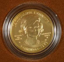 RARE! JACKIE KENNEDY SPOUSE UNCIRCULATED .999 GOLD COIN, ORIG BOX & COA