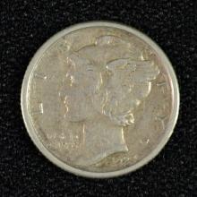 1923-S MERCURY DIME AU
