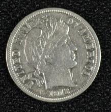 1913-S BARBER DIME AU