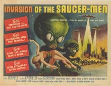 INVASION OF THE SAUCER MEN POSTER. 1957 ORIGINAL.