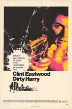 DIRTY HARRY POSTER. 1971 ORIGINAL.