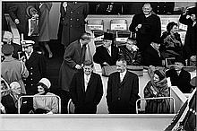 INAUGURATION OF JFK 1961 BILL RAY SIGNED SILVER GELATIN PRINT. 16X20 INCHES.