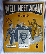 WE'LL MEET AGAIN ORIGINAL SHEET MUSIC SIGNED BY VERA LYNN.