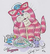 Peter Firmin Watercolour of Captain Bagpuss Signed.