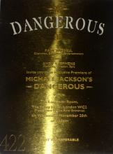 MICHAEL JACKSON DANGEROUS INVITATION PLAQUE.