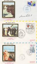 POPE JOHN PAUL II SIGNED FIRST DAY COVERS.