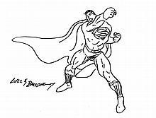 JOSE LUIS GARCIA-LOPEZ DRAWING OF SUPERMAN.