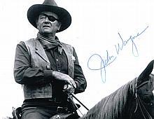 JOHN WAYNE SIGNED 'TRUE GRIT' PHOTO.