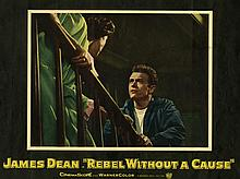JAMES DEAN: ORIGINAL 1955 US 'REBEL WITHOUT A CAUSE' LOBBY CARD.
