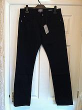 NEW WITH TAGS PETER WORTH MENS BLACK JEANS.