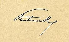 QUEEN VICTORIA SIGNED PIECE OF PAPER.