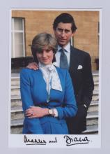 CHARLES AND DIANA SIGNED PHOTO.